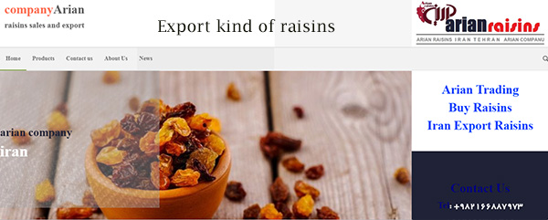 raisins website
